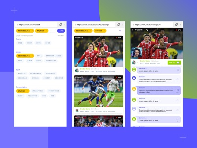 Customise how you watch games - Jalu.tv streamer coins search donation card ui live chat live stream picker mobile ui  ux app