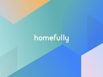 homefully - co-living rebranding housing rent apartment perspective room co-living renaming identity rebranding logo