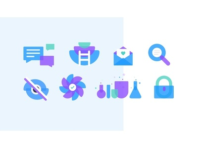 Skive Illustrations purple blue flat icon illustration