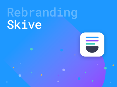 Rebranding Skive - E-Learning Start up icon blue colorful design illustration branding education flat logo rebranding
