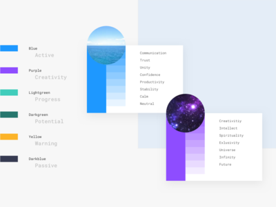 Color Palette - E-Learning Start up design flat colorful branding universe ocean purple blue palette color