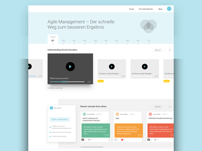 Dashboard 3 create play baby-blue ui ux flat navigation chapters netflix online course dashboard