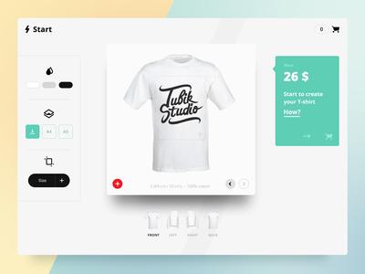 Start App concept ios material design flat customizer web ux ui