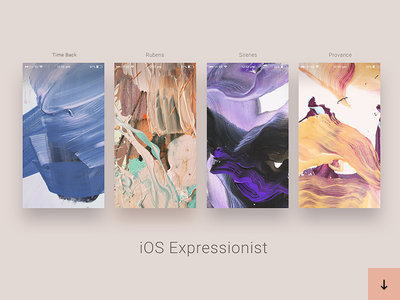 iOS Expressionist art branding cover wallpaper concept ui pattern texture ios