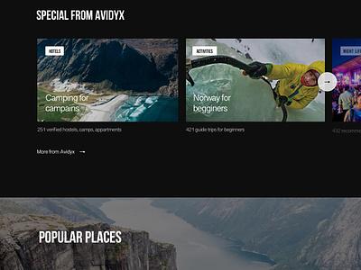 Avidyx - Sport Marketplace Redesign travel sport search mountain landing web interface design interaction animation ugem