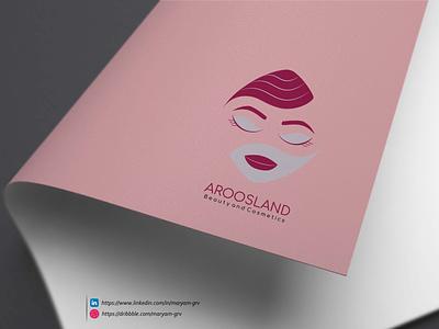 Aroosland Logo Design طراحی گرافیک لوگو فارسی طراحی لوگو لوگو photoshop illustrator branding design shop logo pictorial logo cosmetic logo graphicdesign logodesign logo