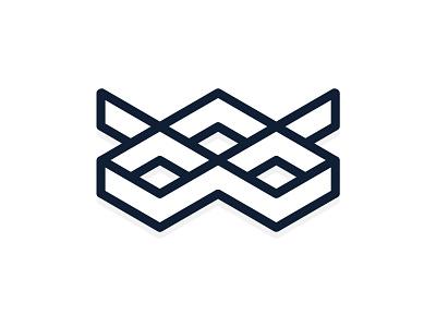 wmw Logo Mark lines typography blue vector design white black branding illustration logo