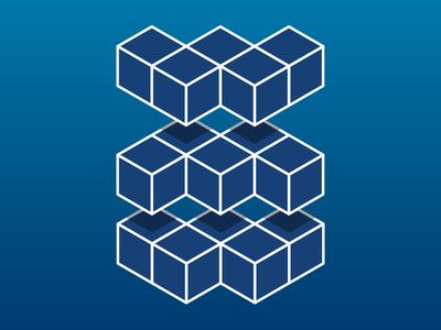 Wildmikewild Blue dimension gradient symbol mark wmw wildmikewild illustration blue logo