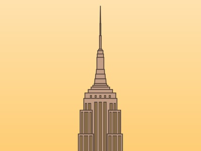 Empire State - NYC lines illustration nyc york new building state empire