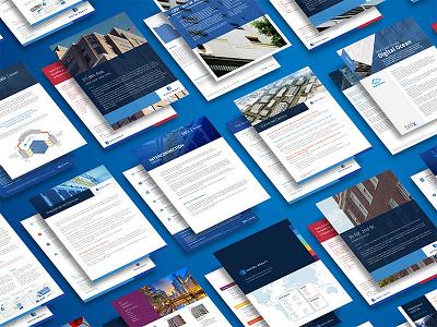 Digital Realty Brochures portfolio collateral fact sheet data presentation visual design brochures