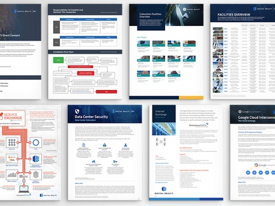 Digital Realty Fact Sheets layout services collateral brochure graphic design fact sheets