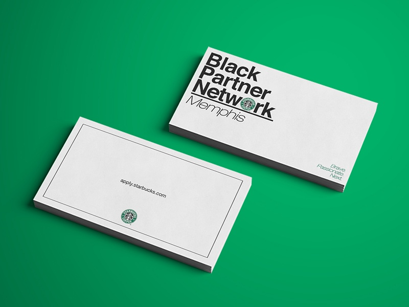 Starbucks bpn business cards