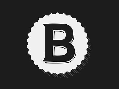 Blanchards BBQ Icon bbq b illustration white black branding logo