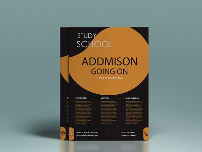 School admission flyer addmison school branding vector banner poster logo design flyer design flyer