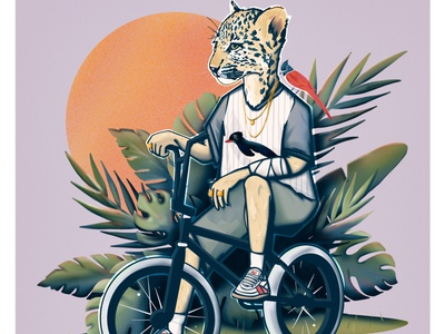 Jungle Crook animal urban concept character graphicart painting digital illustration fashion cartoon editorial art artwork