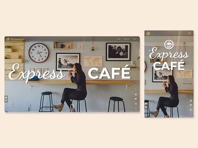 Café Website (Mockup) adobe xd coffee responsive design responsive light ui ux website web design design uidesign ui coffee shop cafe