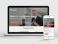 JustAnswer U.S. Immigration Funnel