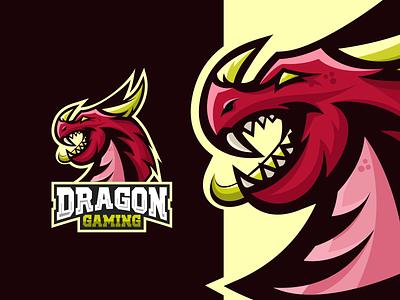Dragon Esports Logo Design dragon logo dragon esports dragon logo esports logo esport esports logos esports mascot esports logo esports animal logo animal branding vectors vector logo icon design