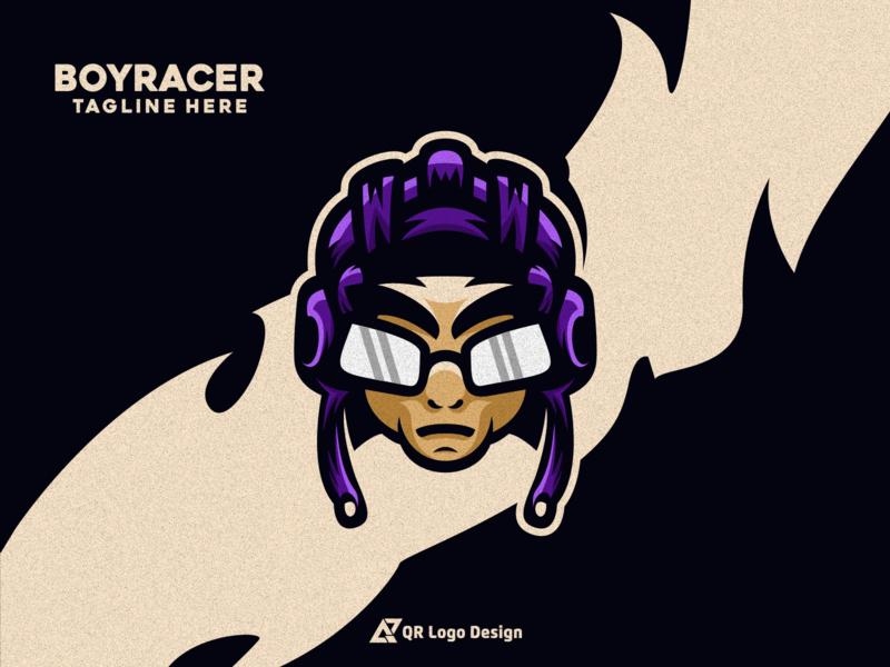 Boy Racer Logo Design character logo character mascotlogo mascot ux ui vectors vector logo icon brand branding design logos logotype boy racers racer logo racer boy logo boy