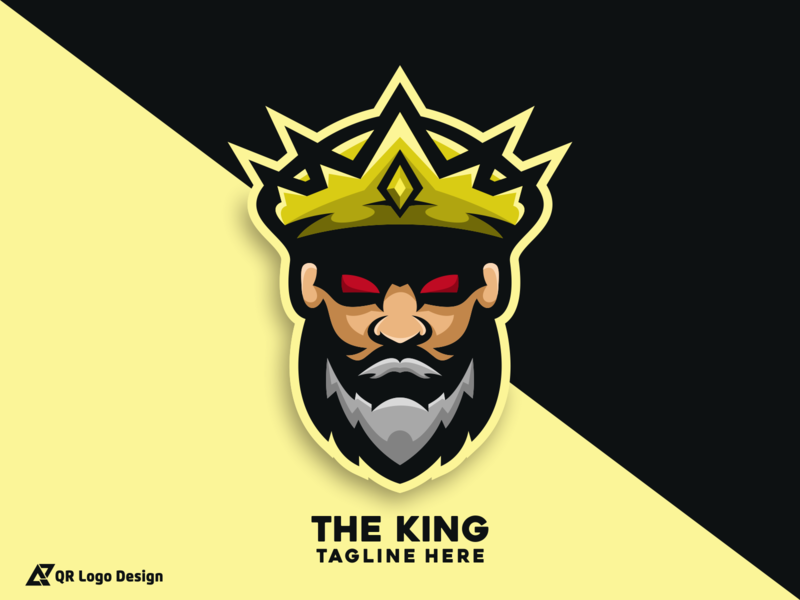 The King Logo design new logo design mascot logo mascot character kings trand new logo logos the king king logo king esports mascot mascot ux ui vectors vector logo icon design