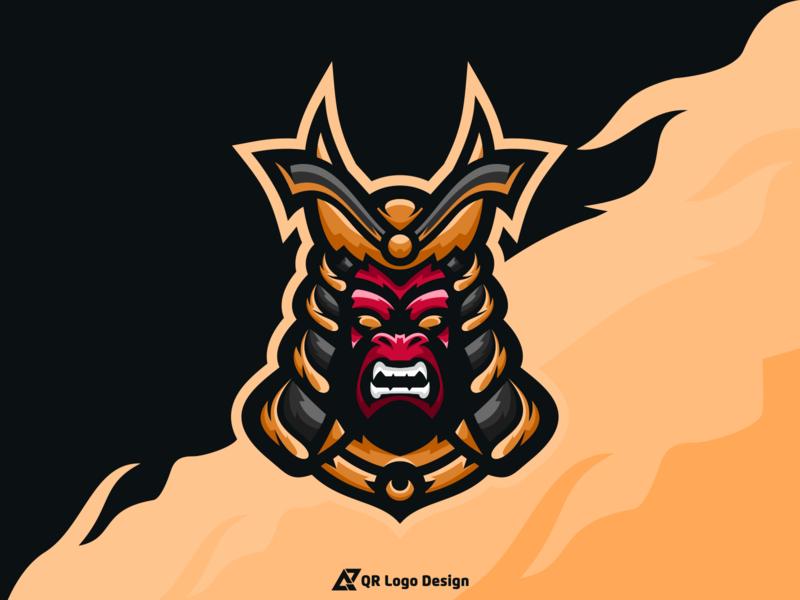 Samurai Logo Design gaming logo gaminglogo new logo design mascot character mascot logo esports logos logos esports logo esports mascot ux ui vectors vector logo icon design logo samurai samurai logo samurai