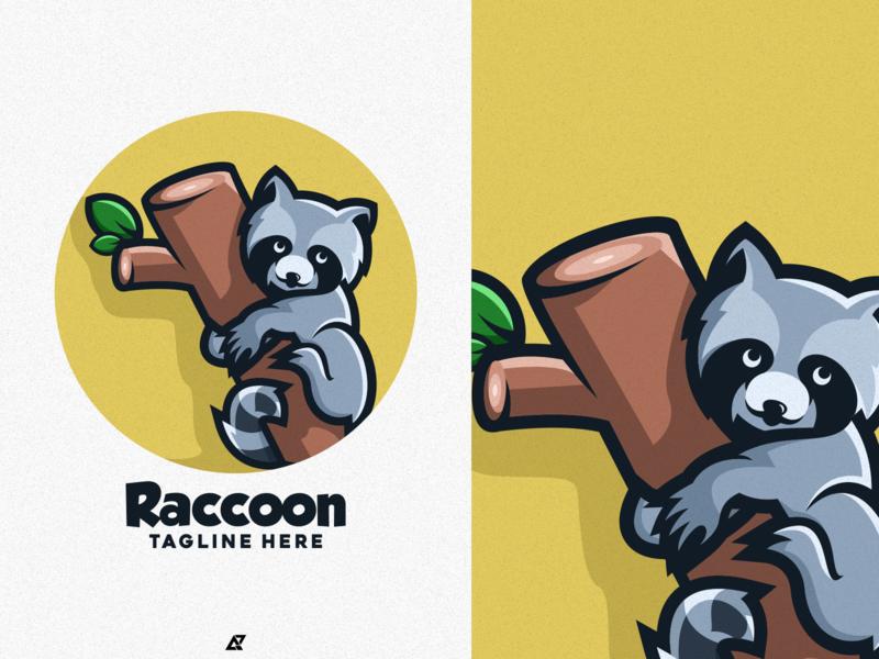 Raccoon Logo Design raccoons uc ui ux vectors vector design icon 2020 logo trending logo good logo logos logo mascot design animal logo animal mascot character mascot logo mascot raccoon logo raccoon