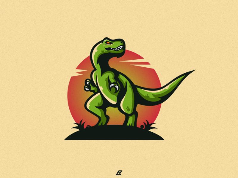 Dino Logo Design logo awesome drible ui sale logo sale new logo icon logo logodesign simple logomascot mascotlogo mascot gaming brand icon logos dinosaurs logo dino logo dinosaurus dino