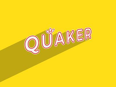 QUAKER illustrator minimal flat vector design branding logo design logo
