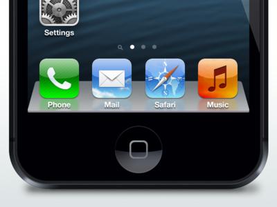 iPhone 5 w/ Mountain Lion Dock