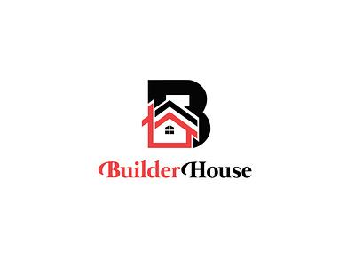 Builder house logo type minimal app icon typography ux vector ui logo design behance dribbble graphics design unique logo modern logo logo design brand logo illustration branding