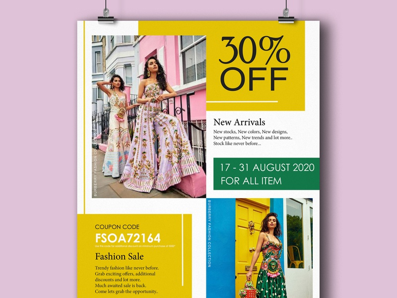 A4 Fashion sale flyer. advertising fashion sale flyer