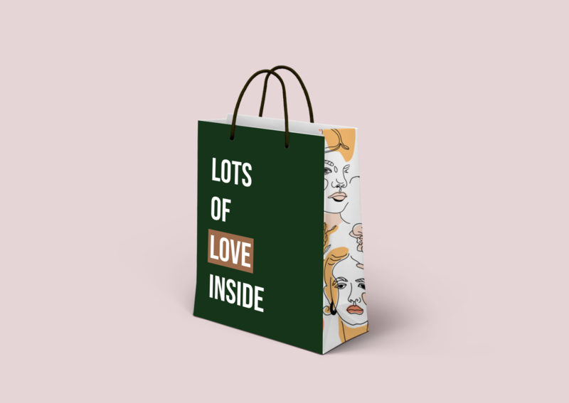 paperbag mockup simple makeup beauty bag modern paperbag mockup design mockup