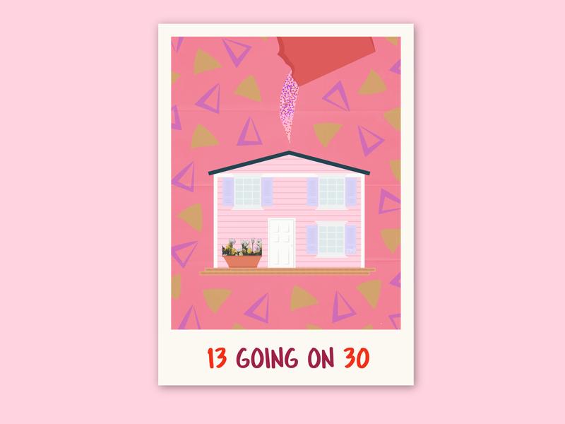 13 Going on 30 | Movie Poster illustration digitalart concept design concept art vector art art direction movie posters movie poster design 13 going on 30 vector art vectorart digital art movie art movie poster movies movie