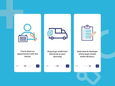 Splash Screen for On-Demand Healthcare App health visual design doctor vector practo healthcare user experience user interface app mobile splash screen ux design ui