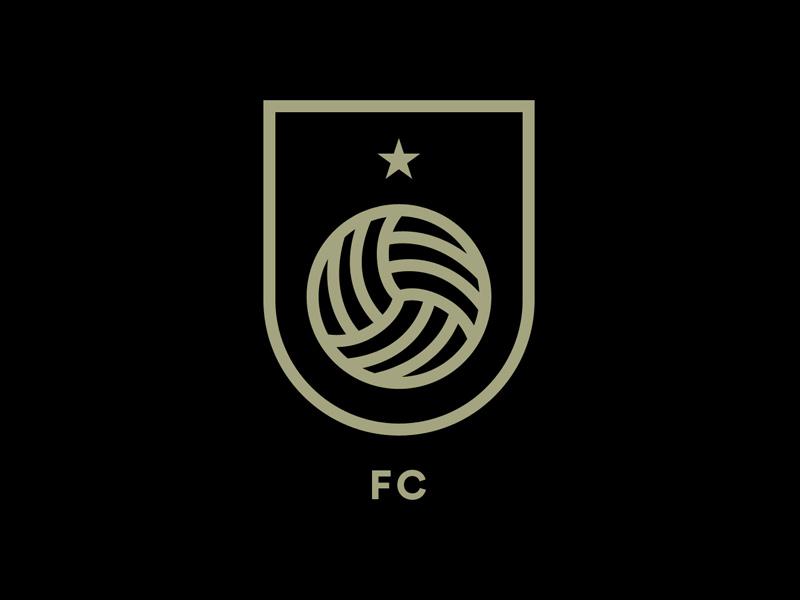 Unofficial —FC team football soccer sports mark symbol branding identity minimal brand logo