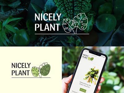 Logo Nicely Plant logotype plant shop plant logo