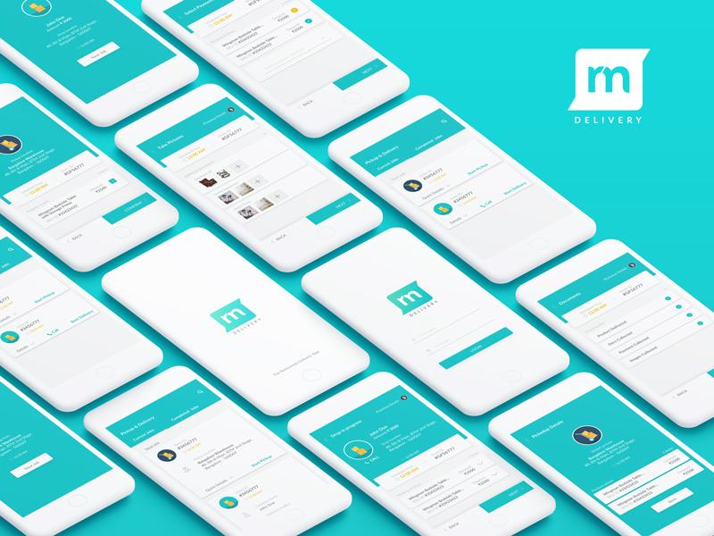 Delivery App delivery app login splash screen pickup rohit bind order mockup rentomojo