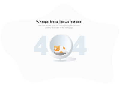 Rentomojo Got Lost - 404 Page illustration lost chair cat 2d website page rohit bind rentomojo error page empty state page 404