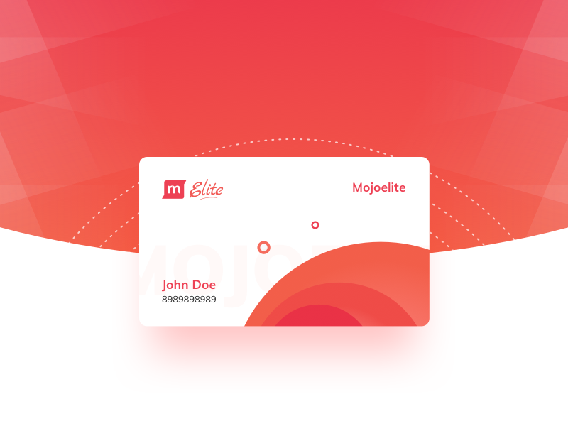 Mojo Elite Card document credit card web application user interface user experience material design elite mojo gradient rentomojo card mojoelite