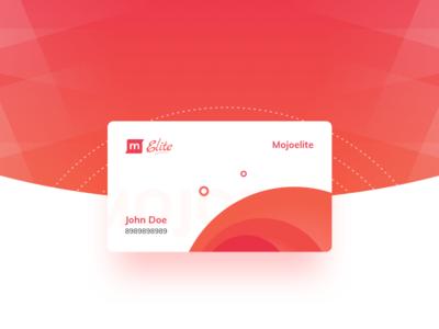 Mojo Elite Card document credit card web application user interface user experience material design elite mojo gradient rentomojo card mojoelite