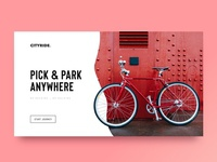 Cityride Concept - Landing Page / Website / First Fold 🏙🚲