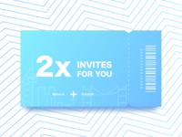 2x Invite for you 🎟🎟