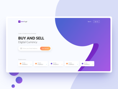 Atomcrypt Website | Cryptocurrency stock cryptocurrency crypto ux ui website landing page web interface homepage design clean rohit bind