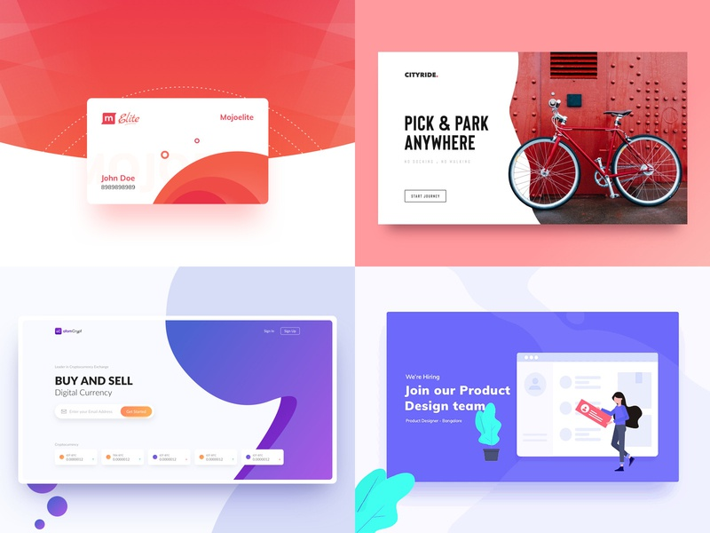 Top 4 Shots of 2018 shot top4 typography cart first fold website web ux ui landing page gradient illustration rohit bind