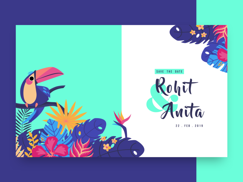 """Creative """"Save the Date"""" Website creative motion animation save the date landing page website typography first fold ux ui illustration wedding invitations"""