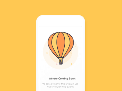 Empty States empty states visual mobile animation no booking no internet empty cart hot air ballon animation illustration vector design ux ui