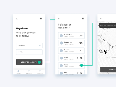 Commuters & Traffic Problem Solution for Bangalore | Free Design pass ticket map direction cart payment userflow wireframe free freebie illustration app design ui ux bangalore commuter problem solving traffic