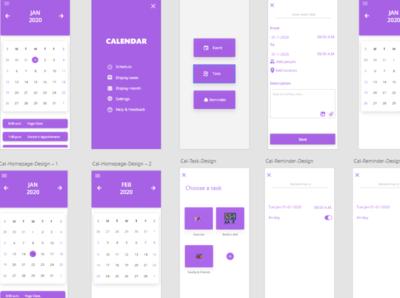 Calendar App design app ux uxui ux design calendar app adobexd