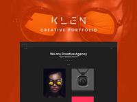 Klen - Creative Portfolio WordPress Theme art work personal slider masonry web page template portfolio web ux ui design theme wordpress creative
