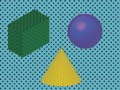 Vintage Geometry print 3d illustrator illustration design graphic